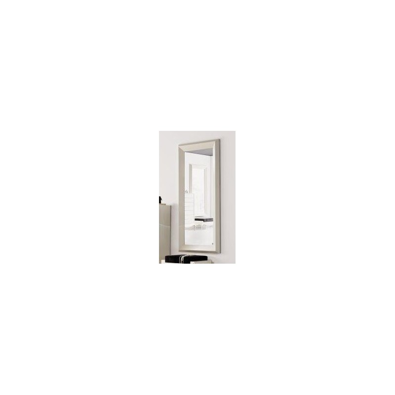 miroir de luxe blanc rectangulaire mural. Black Bedroom Furniture Sets. Home Design Ideas