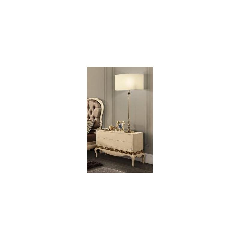 commode baroque de luxe blanche 2 tiroirs. Black Bedroom Furniture Sets. Home Design Ideas