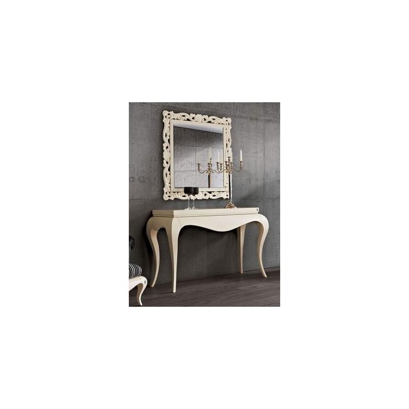 console baroque de luxe ivoire moulure or et argent et. Black Bedroom Furniture Sets. Home Design Ideas