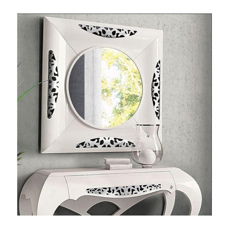 miroir de luxe blanc carr ou rectangulaire eiffel. Black Bedroom Furniture Sets. Home Design Ideas