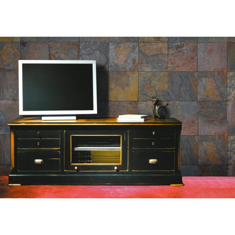 meuble tv antiquaire 6 tiroirs reugny. Black Bedroom Furniture Sets. Home Design Ideas