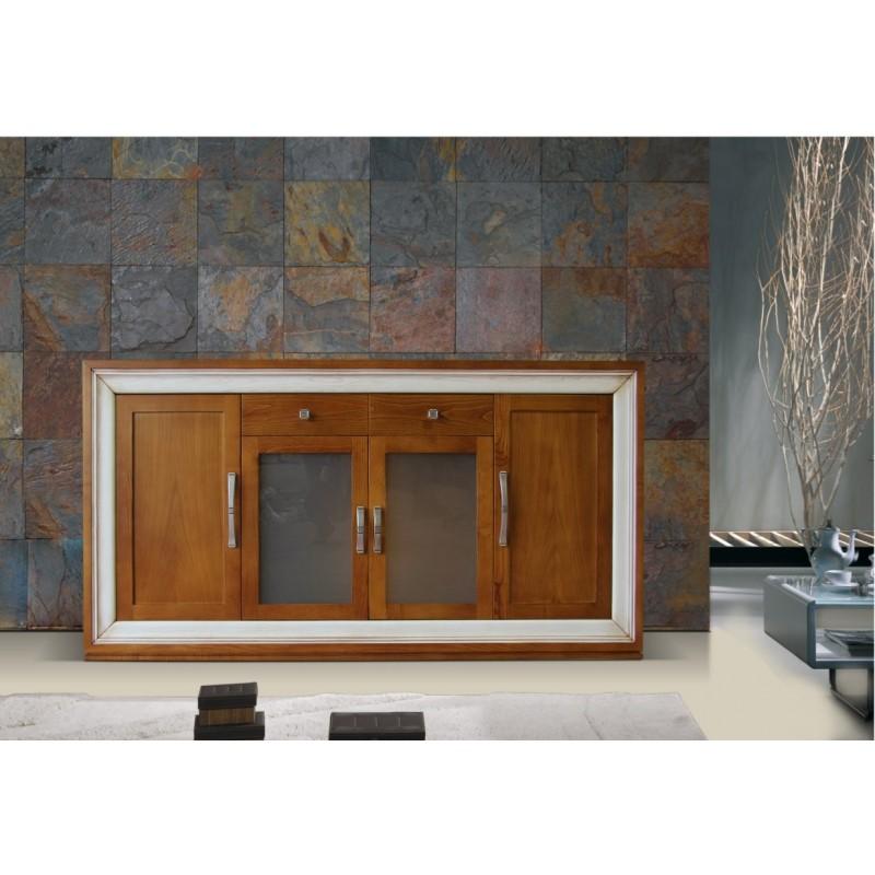 Buffet antiquaire 4 portes rangoon for Meuble antiquaire