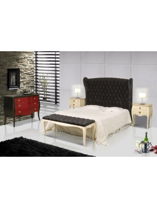 chambre adulte antiquaire rouge et noire coloniale hainan et commode et chevet. Black Bedroom Furniture Sets. Home Design Ideas