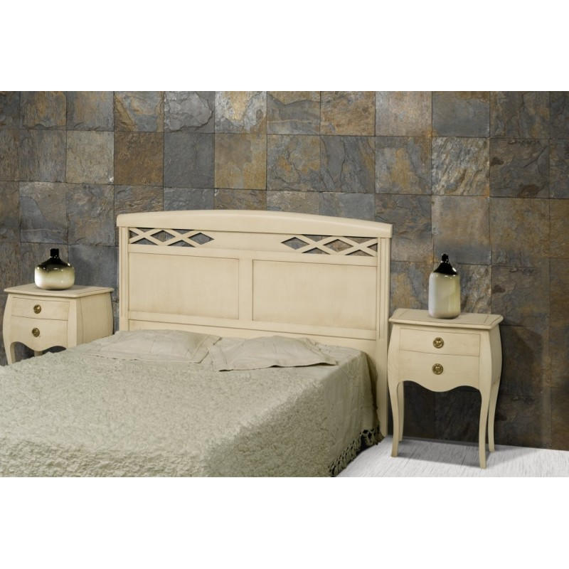 t te de lit antiquaire blanche coloniale meuble de chambre adulte. Black Bedroom Furniture Sets. Home Design Ideas