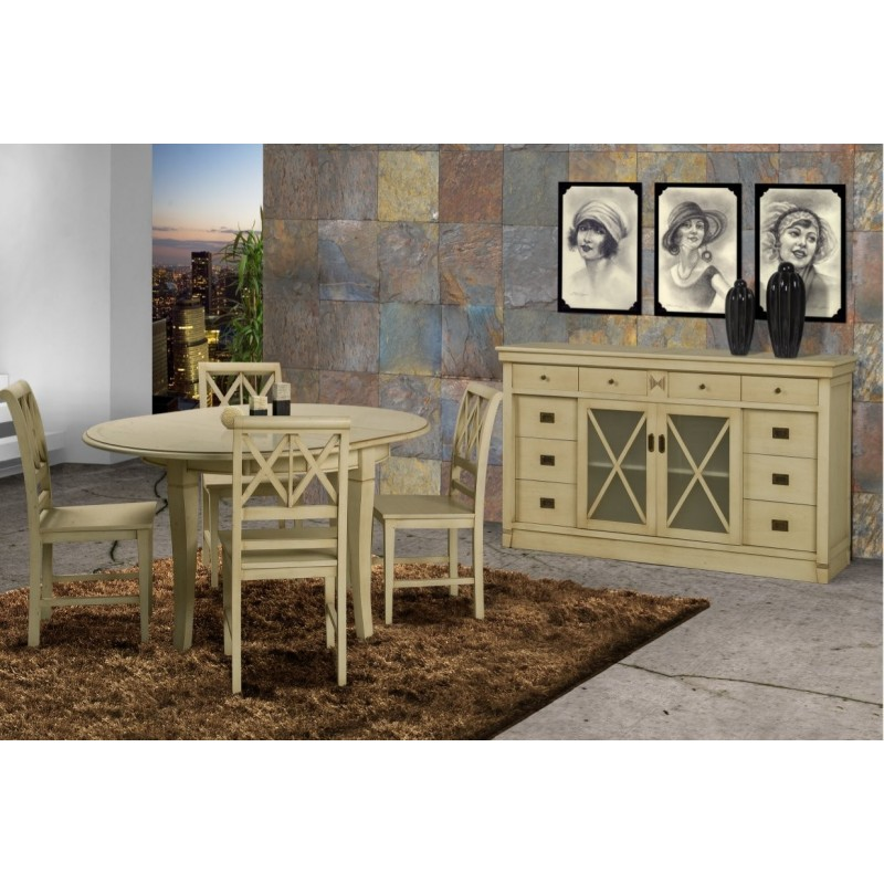 salle manger antiquaire coloniale et buffet ch ne. Black Bedroom Furniture Sets. Home Design Ideas