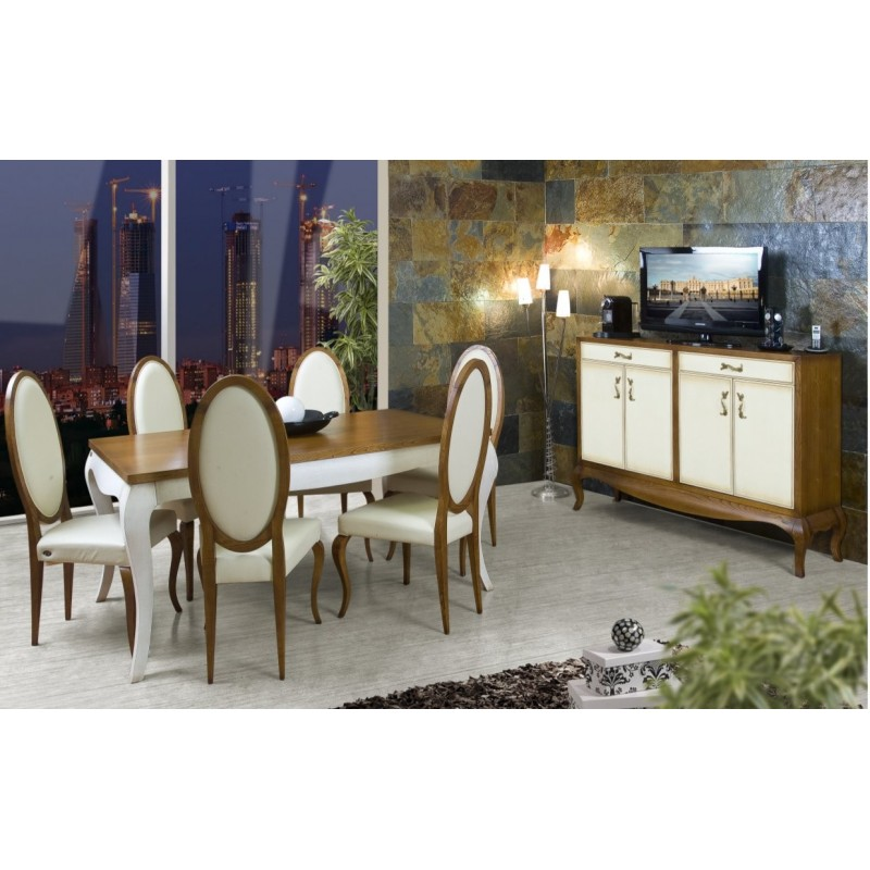 salle manger antiquaire ruben dong cay buffet et chaise blanche. Black Bedroom Furniture Sets. Home Design Ideas