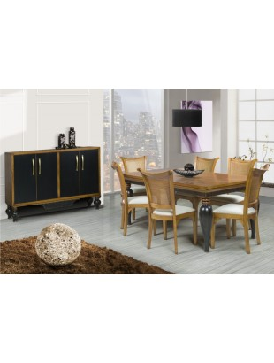 salle manger antiquaire noire victoira luang buffet et chaise. Black Bedroom Furniture Sets. Home Design Ideas