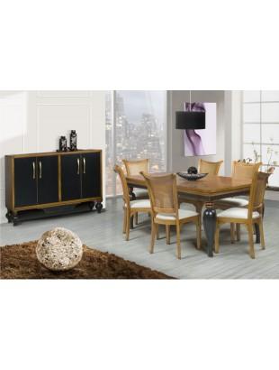 salle manger antiquaire noire victoira luang buffet et chaise. Black Bedroom Furniture Sets. Home Design Ideas