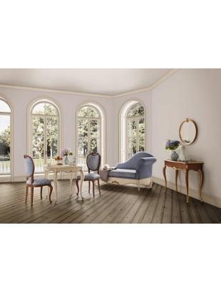 Chaise longue de salon bleue de luxe glamour et console baroque - Chaise longue de salon ...