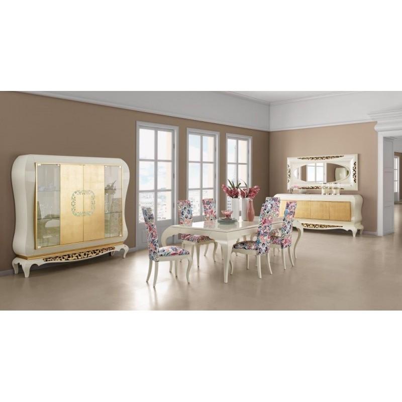 Salle manger de luxe blanche eiffel miroir blanc for Salle a manger de luxe