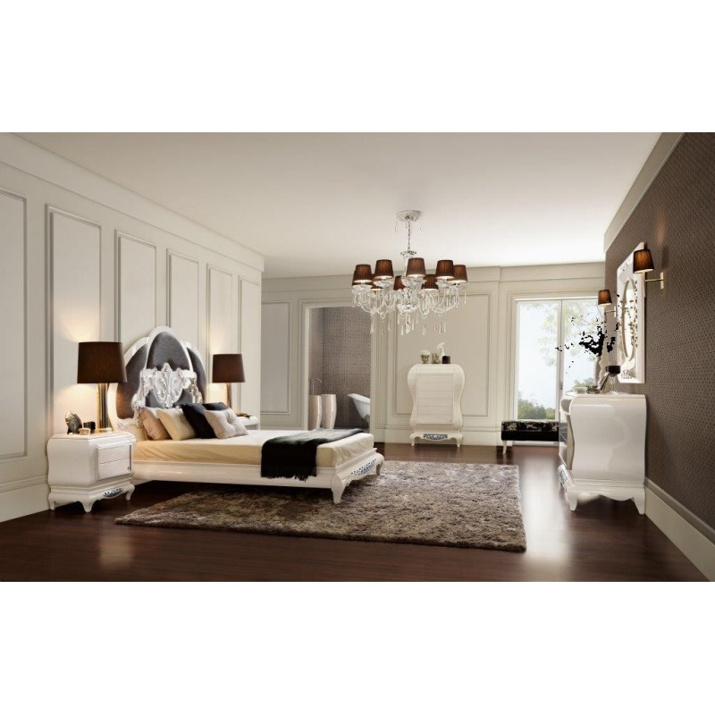 chambre adulte de luxe blanche eiffel. Black Bedroom Furniture Sets. Home Design Ideas