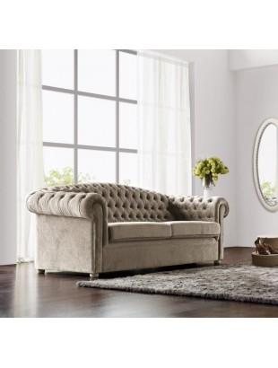 canap de luxe tissu capitonn milan. Black Bedroom Furniture Sets. Home Design Ideas