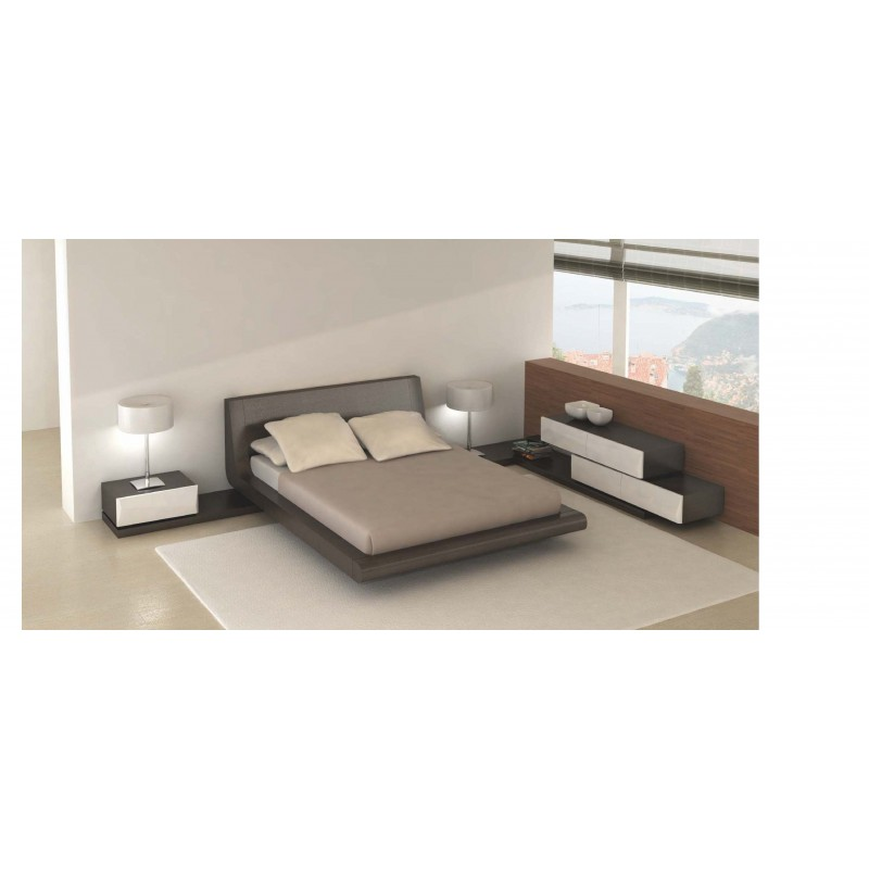 Chambre adulte design avec lit moka luz sancy commode et for Lit et commode adulte