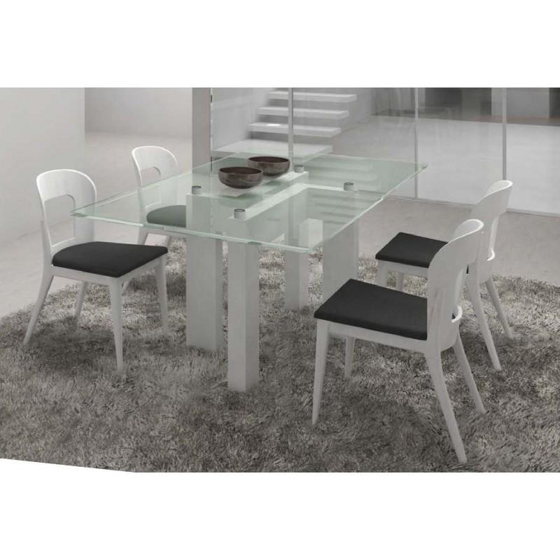 table de s jour noire et blanche design rectangulaire onix. Black Bedroom Furniture Sets. Home Design Ideas