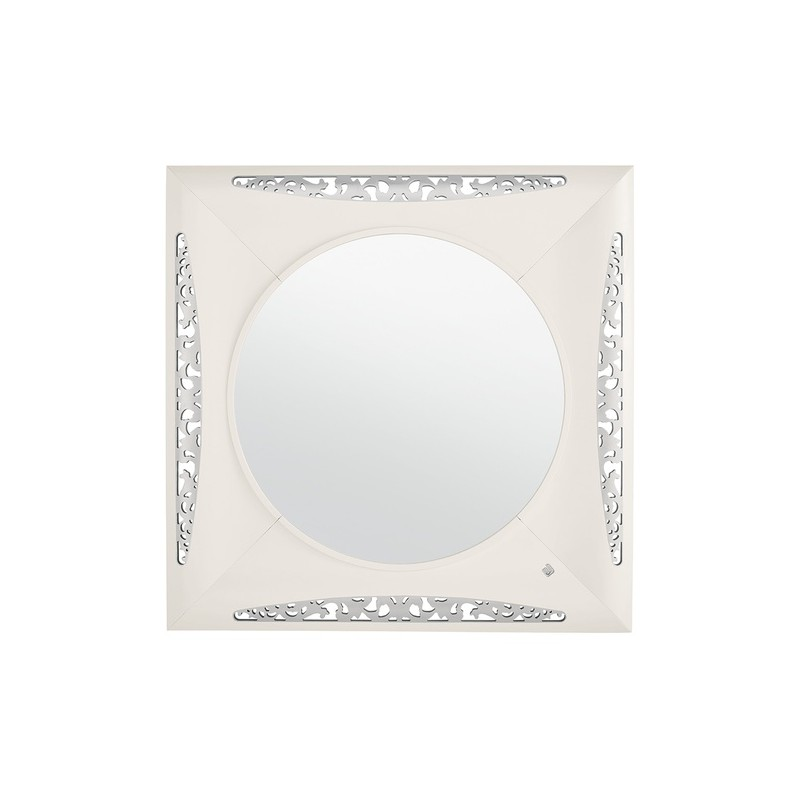 Miroir de luxe blanc carr ou rectangulaire eiffel for Miroir carre blanc
