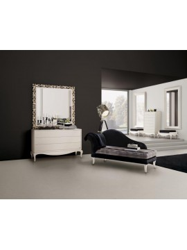 chaise longue de salon bleue de luxe glamour et console baroque. Black Bedroom Furniture Sets. Home Design Ideas