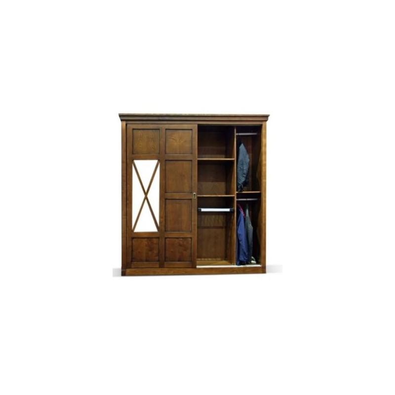 Armoire antiquaire victoria 4 portes dont 2 vitr es centrales for Meuble antiquaire