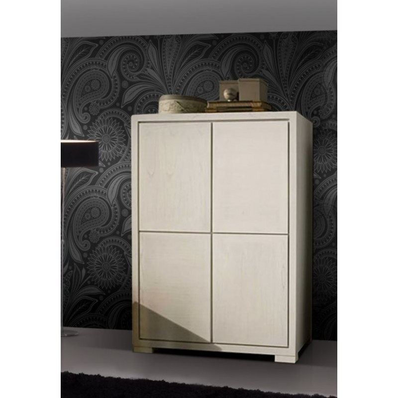 armoire antiquaire blanche hanoi 4 portes. Black Bedroom Furniture Sets. Home Design Ideas