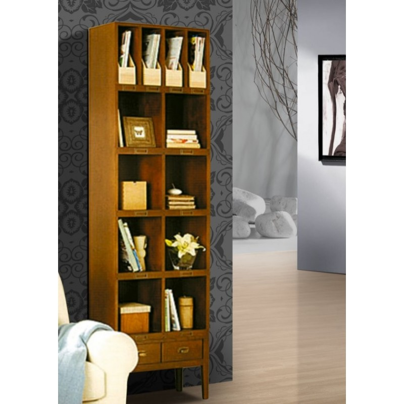 biblioth que antiquaire 4 casiers porte documents ruheng. Black Bedroom Furniture Sets. Home Design Ideas
