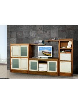 meuble tv vitrine  portes blanches ref  1027 casa b premium