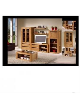 ensemble meuble tv biliothèque Rustico Viana