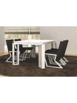 Table de séjour design + 4 ou 6 fauteuils Luz