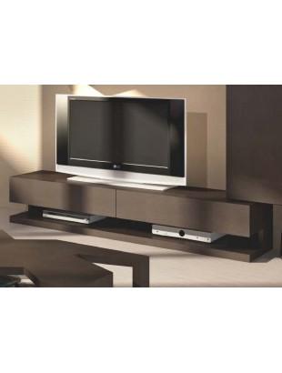 Meuble tv design 2 tiroirs avec clairage led moka - Eclairage led pour meuble tv ...