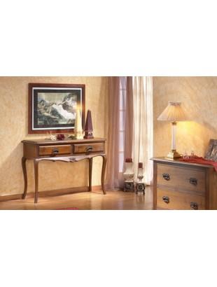 console rustique en ch ne jade. Black Bedroom Furniture Sets. Home Design Ideas