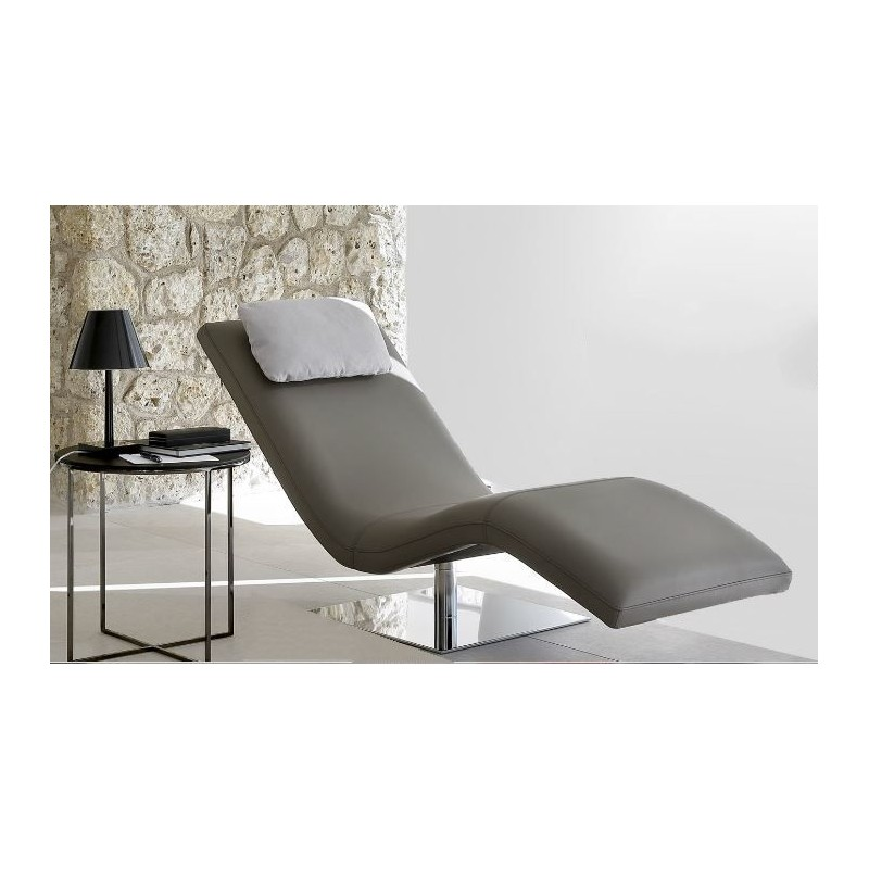Chaise longue de salon italienne cuir ou tissu san diego for Chaise italienne