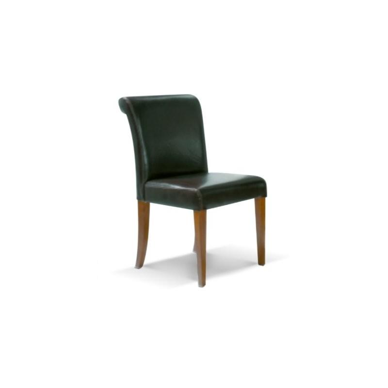 Chaise antiquaire cuir noire hannam for Chaise quercus
