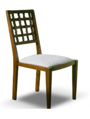 Chaise antiquaire tissu blanc angkor for Chaise quercus