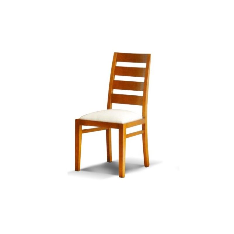 Chaise antiquaire de salle manger tissu blanc han for Chaise de salle a manger en chene massif recouvert de tissu