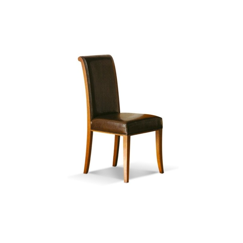 Chaise antiquaire cuir marron kyoto for Chaise cuir marron