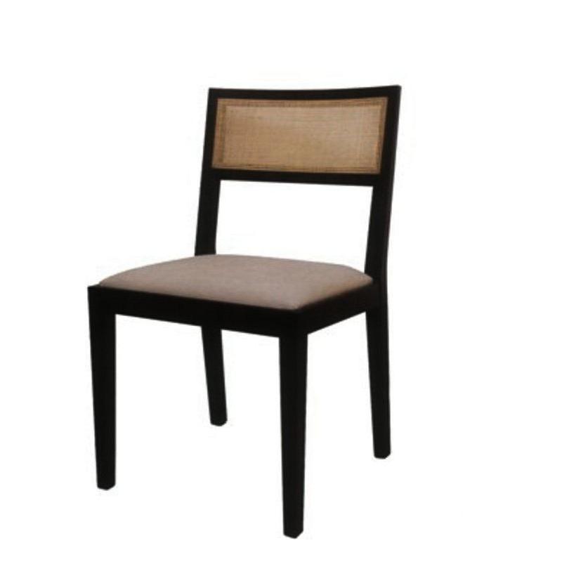 Chaise antiquaire marron et noire l n meuble de salle for Chaise quercus
