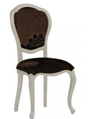 Chaise antiquaire tissu noir tema meuble de salle manger for Chaise quercus
