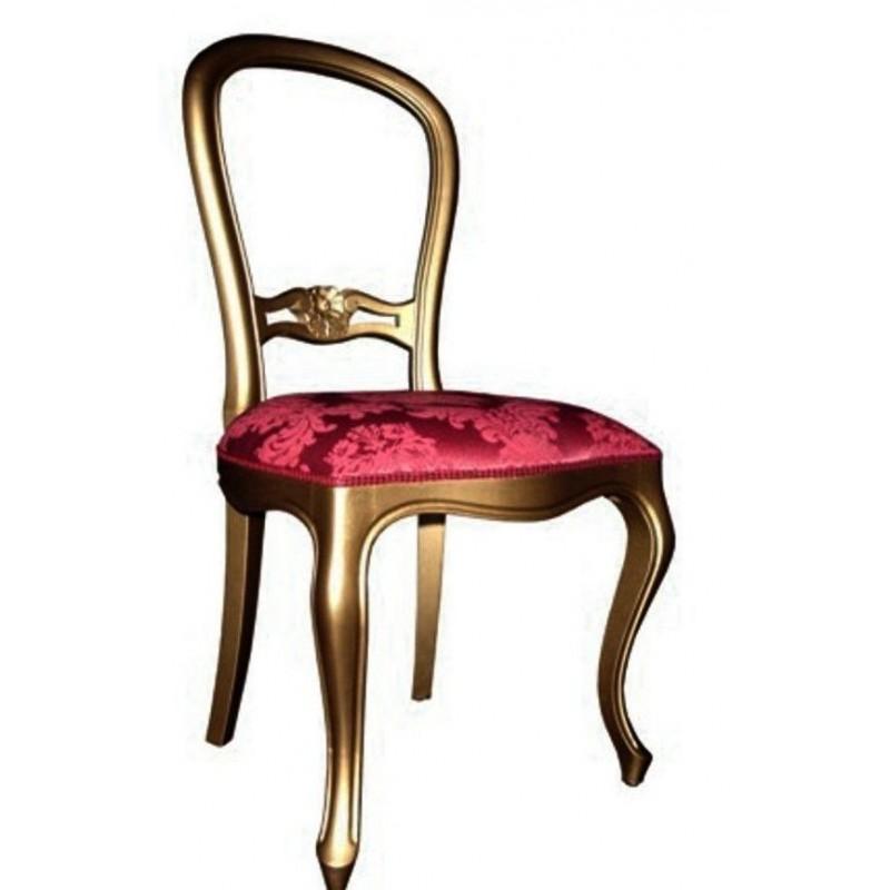 Chaise antiquaire tissu rouge nogueira meuble de salle for Chaise quercus