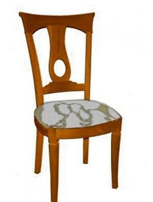 Chaise antiquaire en merisier tissu blanc et beige dame for Chaise quercus