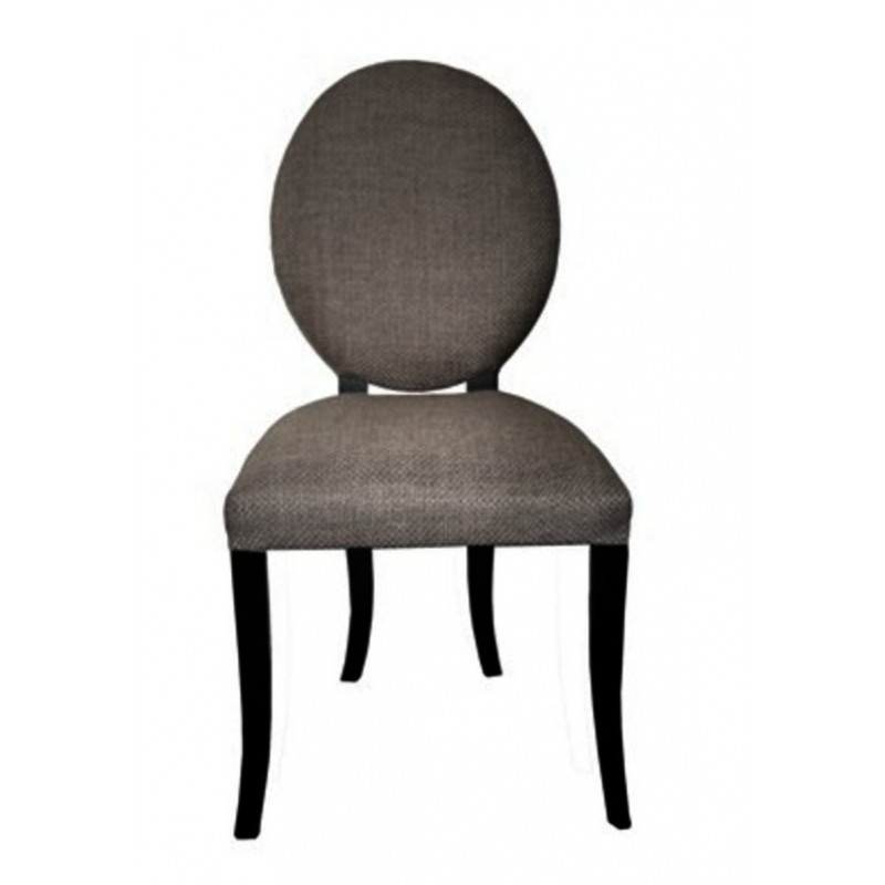 Chaise antiquaire en merisier tissu gris iris meuble de for Chaise quercus