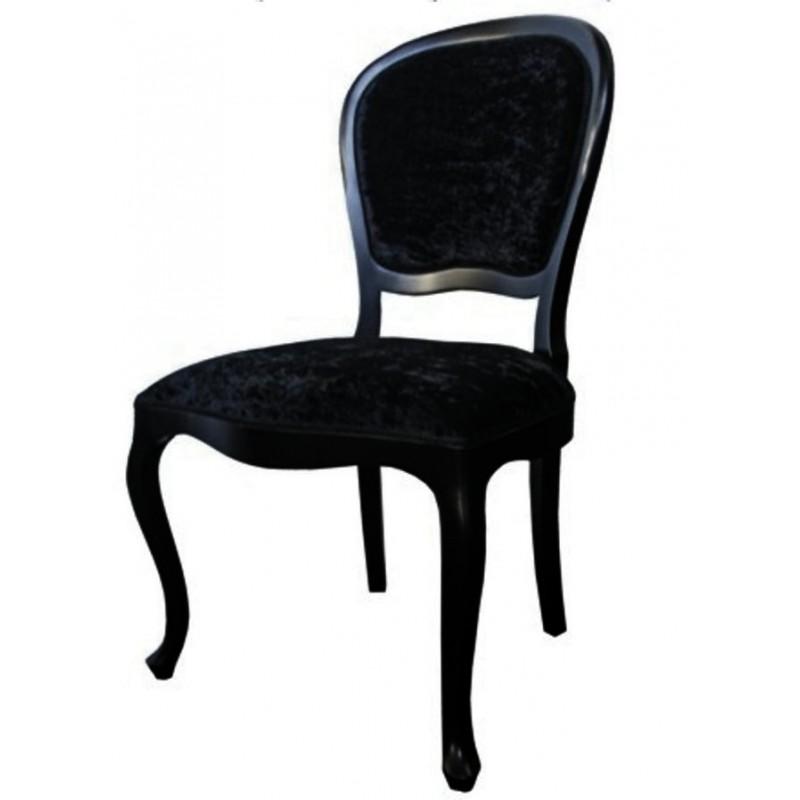 chaise antiquaire tissu noir xl meuble de salle manger. Black Bedroom Furniture Sets. Home Design Ideas