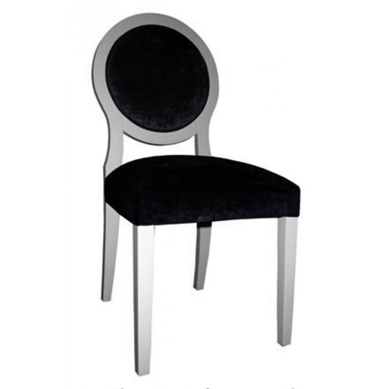Chaise antiquaire noire et grise apollo meuble de salle for Chaise quercus