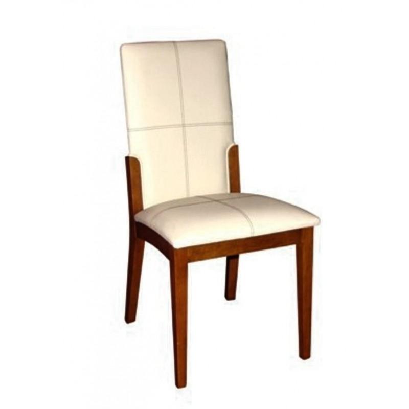 Chaise antiquaire blanc nacr marjolaine meuble de salle for Chaise quercus