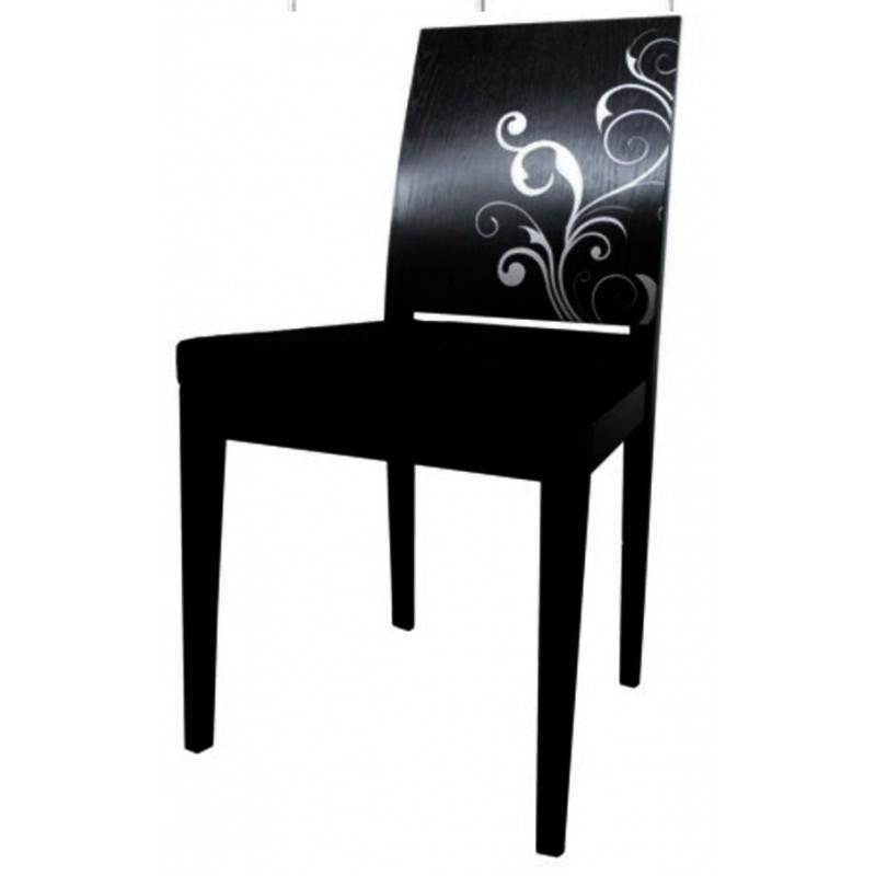 Chaise antiquaire noire pervenche meuble de salle manger for Chaise quercus
