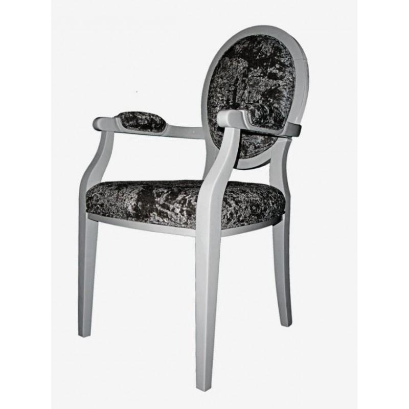 Chaise antiquaire noire avec accoudoirs soci t meuble de for Chaise quercus