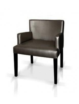 Chaise antiquaire cuir noire avec accoudoirs orchid e for Chaise quercus
