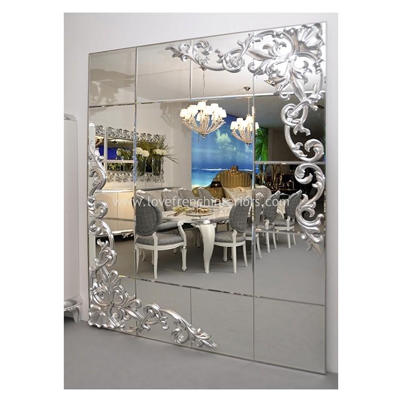 Grand miroir de luxe rectangulaire 1900 - Grand miroir rectangulaire design ...