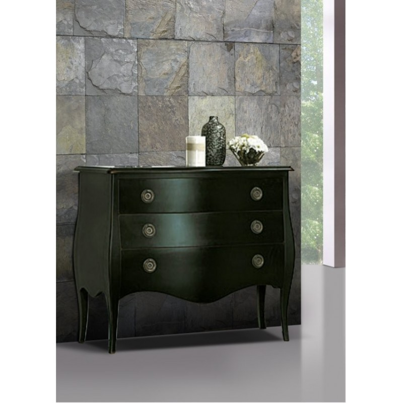 commode antiquaire noire tonkin 3 tiroirs. Black Bedroom Furniture Sets. Home Design Ideas