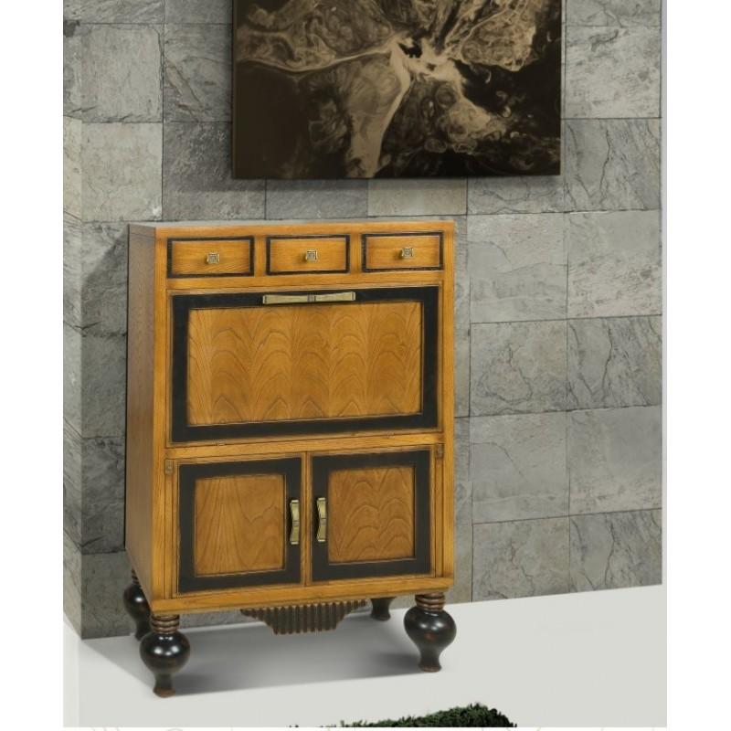 secr taire antiquaire 3 portes 3 tiroirs victoria. Black Bedroom Furniture Sets. Home Design Ideas