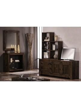 meuble tv et miroir , rustico ariana ref 2285 ref 2145