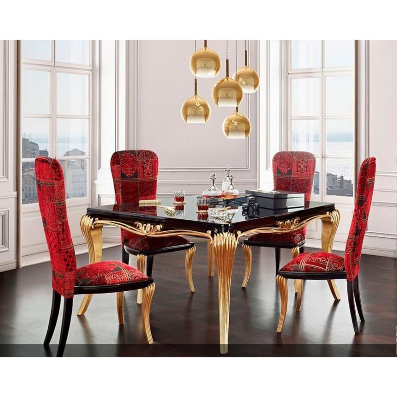 Salle manger de luxe noire 1900 console et miroir for Salle a manger de luxe