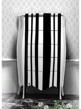 Chiffonnier noir et blanc Barriga